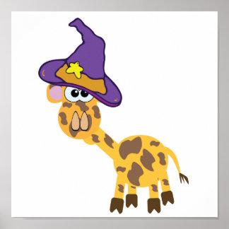 witchy goofkins giraffe poster