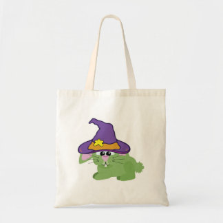 witchy goofkins green bunny rabbit budget tote bag