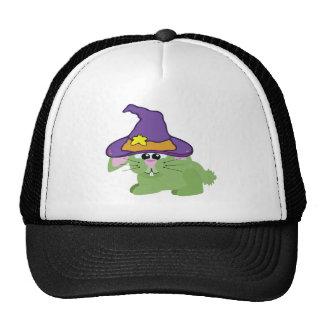 witchy goofkins green bunny rabbit trucker hat