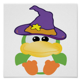 witchy goofkins green duck print