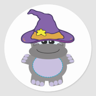 witchy goofkins hippo classic round sticker