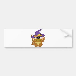 witchy goofkins monkey car bumper sticker