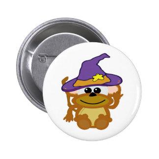 witchy goofkins monkey pinback button