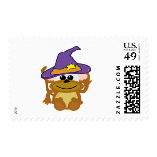 witchy goofkins monkey postage stamps