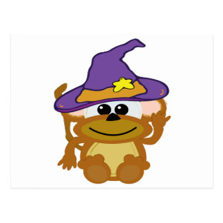 witchy goofkins monkey postcard