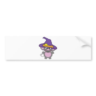 Halloween Themed witchy goofkins mouse bumper sticker