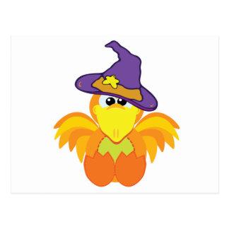 witchy goofkins orange bird post card