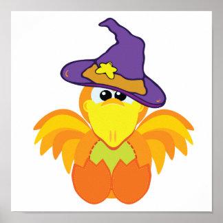 witchy goofkins orange bird print