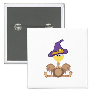 witchy goofkins ostrich 2 inch square button