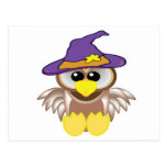 witchy goofkins owl postcard