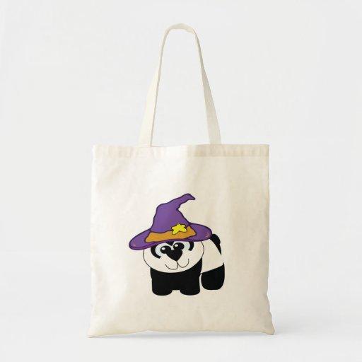 witchy goofkins panda bear tote bag