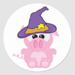 witchy goofkins piggy pig classic round sticker