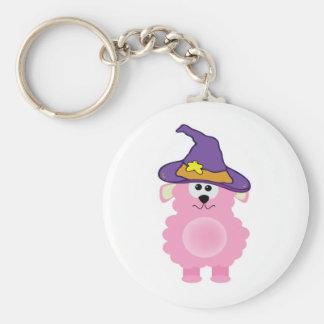 witchy goofkins pink lamb keychain