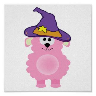 witchy goofkins pink lamb print