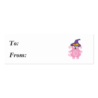 witchy goofkins pink poodle business card