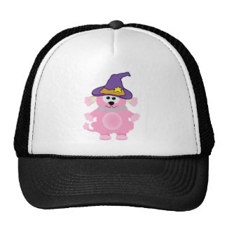 witchy goofkins pink poodle trucker hat
