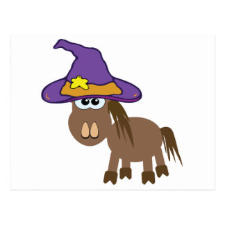 witchy goofkins pony horse post card