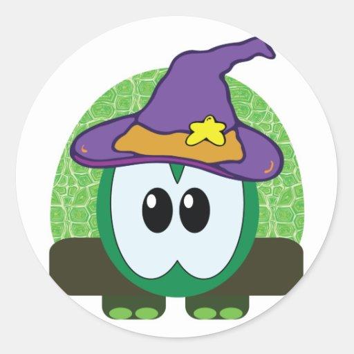 witchy goofkins turtle classic round sticker