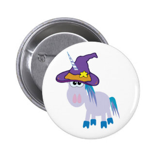 witchy goofkins unicorn button