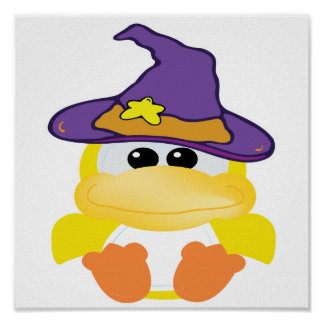 witchy goofkins yellow ducky poster