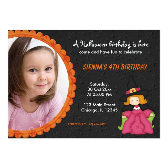 Witchy Halloween Birthday Card