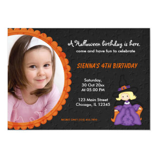 Witchy Halloween Birthday 5x7 Paper Invitation Card