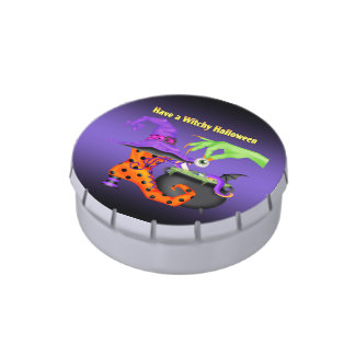 Witchy Halloween Candy Tins Party Favors