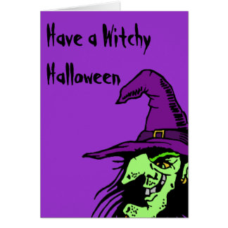 Witchy Halloween Card
