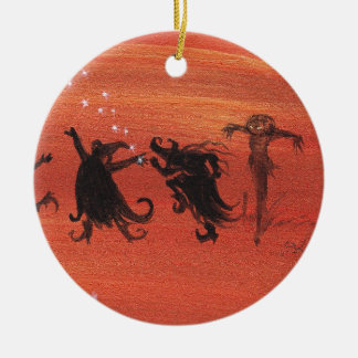 Witchy Halloween Celebration. Christmas Tree Ornaments
