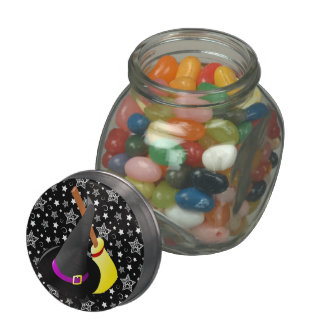 Witchy Halloween Fun Glass Candy Jars