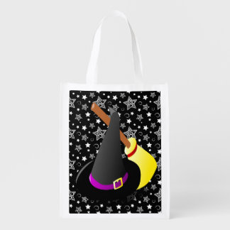 Witchy Halloween Fun Grocery Bag