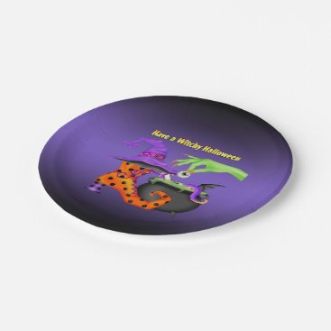 HalloweenHollow Witchy Halloween Paper Party Plate