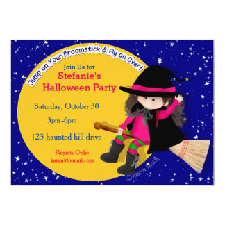 Witchy  Halloween Party Invite