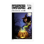Witchy halloween stamp