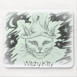 Witchy Kitty Mouse Pad