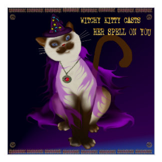 Witchy Kitty Poster