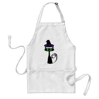 Witchy little cat adult apron