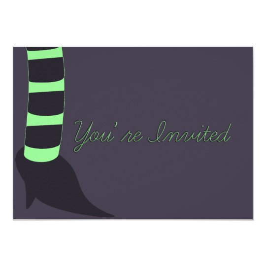 Witchy Personalized Halloween Card