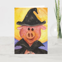 Witchy Pig Card