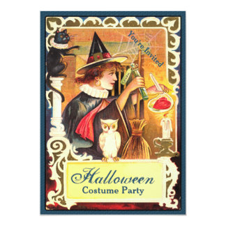 Witchy Potion Halloween Party Card