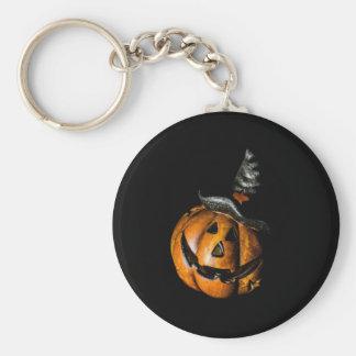 Witchy Pumpkin Button Keychain