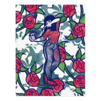 Witchy Rose Modern Witch Pagan Roses Postcard