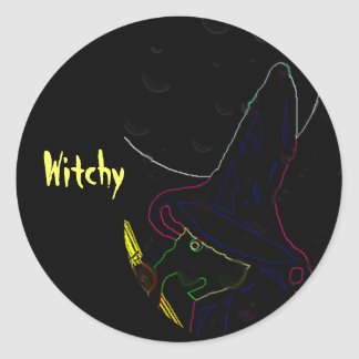Witchy Round Stickers