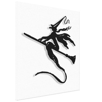 Witchy Silhouette Gallery Wrapped Canvas