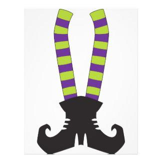 """Witchy Stripy Socks 8.5"""" X 11"""" Flyer"""
