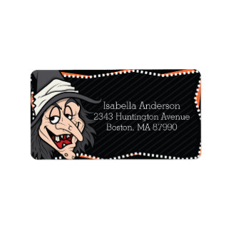 Witchy Witch Halloween Return Address Label