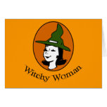 Witchy Woman Cartoon Style Card