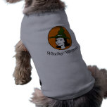 Witchy Woman Cartoon Style Pet Clothing