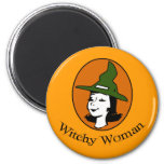Witchy Woman Cartoon Style Refrigerator Magnets