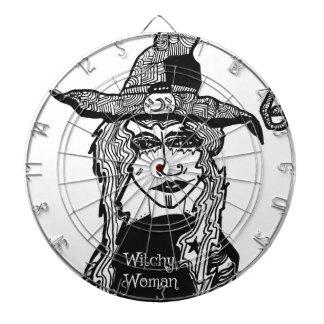 Witchy Woman Dartboard With Darts